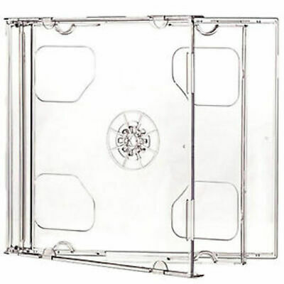 10 Standard 10.4 mm Jewel Case Double CD DVD Disc Storage Assembled Clear Tray