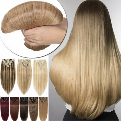 ON CLEARANCE Clip in Human Hair Extensions Full Head 100% Remy Hair Mix Blonde H