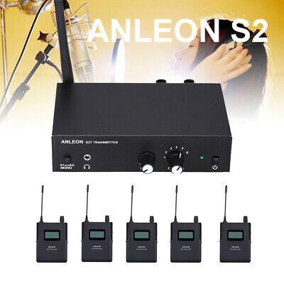 ANLEON S2 Wireless Stereo In-ear Monitor System UHF 1 Transmitter + 5 Receivers