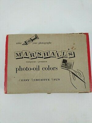 Vintage Marshalls Photo Oils Color Your Photographs Original Box     A-17