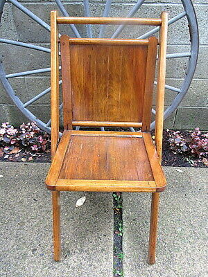 "Vintage Wood Slat Folding Chair 40"" X 16"" X 2"" Folded"