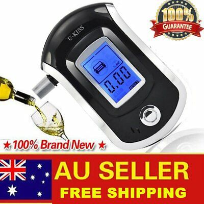 Portable Digital Alcohol Breathalyser Breath Tester Breathtester Blue LCD Hot 5u