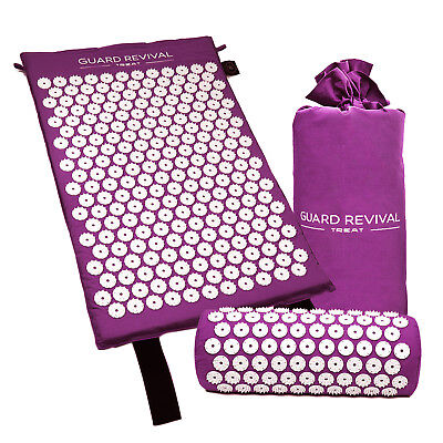 Acupressure Massage Mat with Pillow for Stress/Pain/Tension Relief Body relax cp