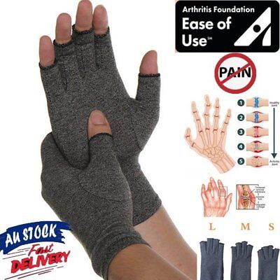 Arthritis Gloves Compression Joint Finger Pain Relief Hand Wrist Support Brace M