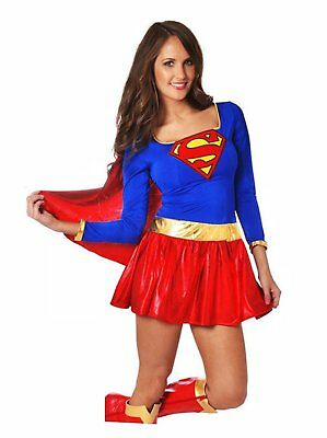 Supergirl Adult Women Superhero Costume Comic Party Halloween Outfit Fancy Dress