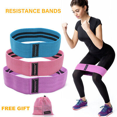 3Psc/Set Resistance Bands Hip Circle Booty Band Loop Glute Leg Exercise Fitness