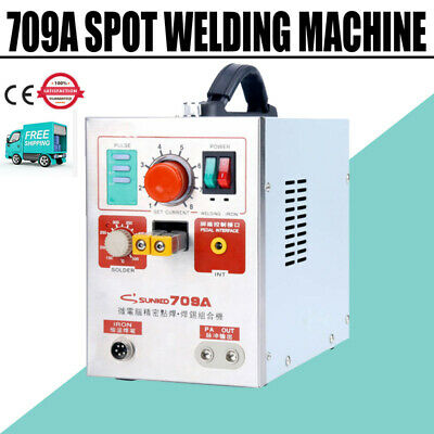 709A Pulse Spot Welder Welding Soldering Machine for 18650 Battery Packs 1.9kw