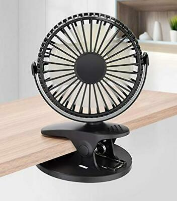 Vegena Mini Ventilateur à Clipper, USB de Bureau, Noir