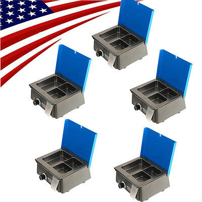 5X USA FAST Analog Wax Heater melter Pot Dental Lab equipment 3 Well Container