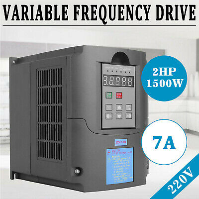 220V Single Phase/3-Phase 1.5KW Variable Frequency Drive Inverter CNC Motor VFD