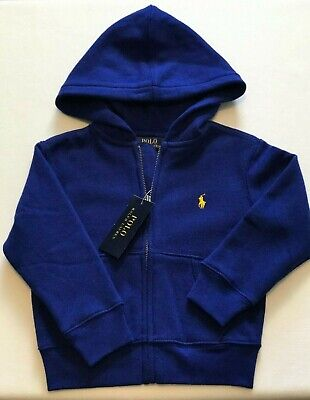 Ralph Lauren Royal Blue Heritage Hoodie Toddler Boys Size 2T NWT