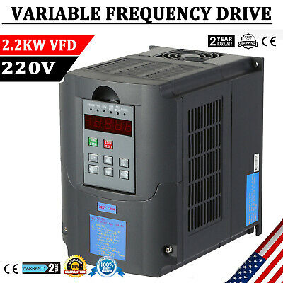 2.2KW 3HP  VARIABLE FREQUENCY DRIVE INVERTER VFD VSD  220V SINGLE To 3 PHASE