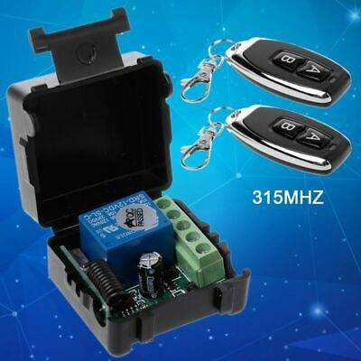 NEW Wireless Remote Control RF Transmitter 315Mhz 12V 1 Channel Receiver Module