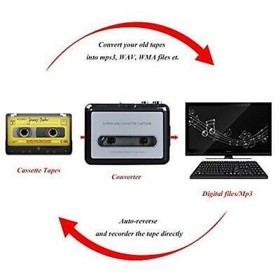 Portable Tape Casette To MP3 USB PC Converter Digital Audio Music Player Adapter