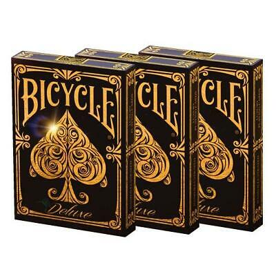 Bicycle Deluxe Playing Cards Gold Foiled Tuck by Elite Luxury 3-Deck Set