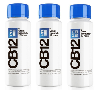 CB12 250ML 3 Pack Mint / Menthol Mouthwash