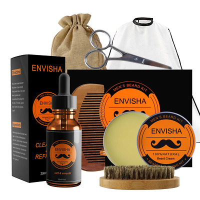 KOKOBI Beard Balm Set, Beard Grooming Kit for Men-7 in 1 Beard Trimmer Includes-