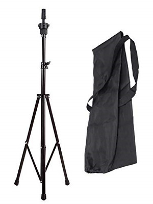 Anself Training Head Stand Mannequin Holder Adjustable Wig Tripod Hairdressing