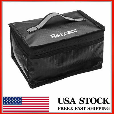 Realacc Fireproof Explosionproof LiPo Battery Portable Safety Bag 220x155x115mm