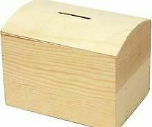 Wood Money Box to Decorate 10x8x7cm   Wooden Boxes for Crafts