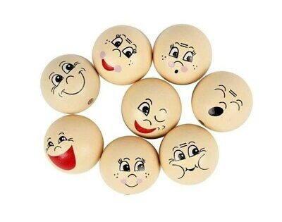 16 Assorted Wooden Heads for Crafts - 30mm   Wooden Shapes for Crafts