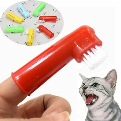 Pet Dogs Cats Oral Dental Clean Teeth Care Hygiene Brush Soft Finger Toothbrush