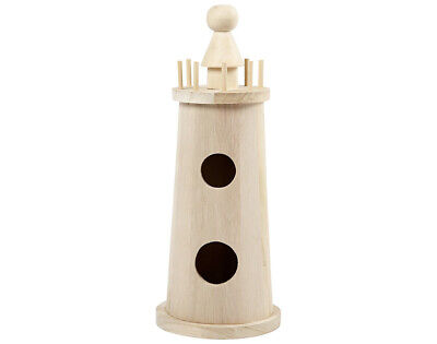 25cm Large Wooden Lighthouse to Decorate   Wooden Shapes for Crafts
