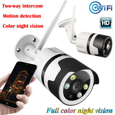 Wireless WiFi IP Security Cameras CCTV Smart System Outdoor IR Night 2 Way Audio