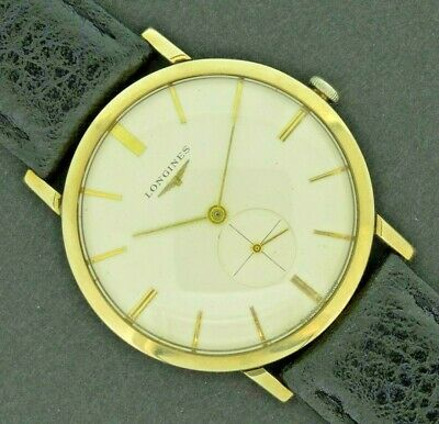 LONGINES Mens Vintage 1964 9ct Solid Gold Watch VGC Boxed 19.4 Movement Manual