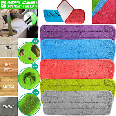 Spray Mop Replacement Pads Heads Microfiber Refill Wet Dry Cleaning Washable Pad
