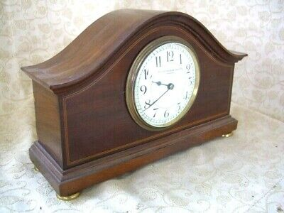 Antique Mantle clock made by Manoah & Rhodes and sons LTD Bradford~ Mahogany~GWO