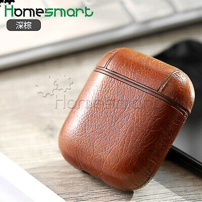 Leather Wireless Bluetooth Headset Cover for Apple Airpods 1 2 Transparent AHS
