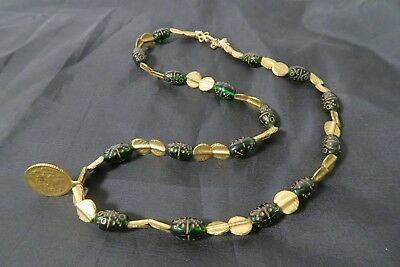 Original Collier Glass Messing Perlen Baule AB87 Brass Necklace  Baoule Afrozip
