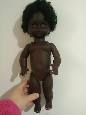 African Black Aboriginal Indigenous Baby Girl Doll. Made in Australia. 38 cm.