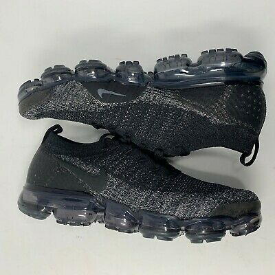 Nike Air VaporMax Flyknit 2  Black Dark Grey 942842-012 SZ 7 NO BOX TOP