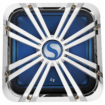 "Kicker 11L712GLCR 12"" Chrome Grille w/ LED For Solo Baric 11S12L7 Subwoofer Sub"
