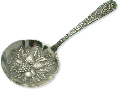 Repousse by S Kirk & Son Bon Bon, Nut or Candy Spoon, Sterling Silver