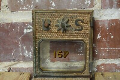 Vintage Geo L. Lavery Chicago Post Office USPS Brass Mailbox Door #157