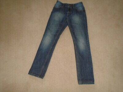 NEXT - SHADED & DISTRESSED BLUE DENIM JEANS - SIZE: 11 YEARS REGULAR  146 cm