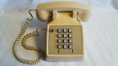 Old Vtg Collectible AT&T Made By Western Electric Push Button Telephone