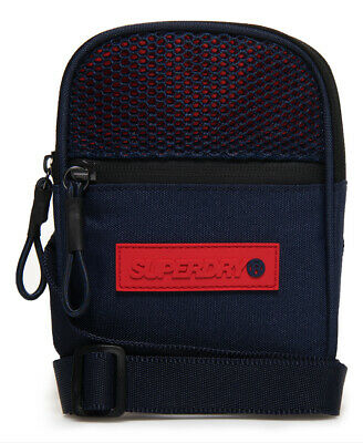 New Mens Superdry Sport Pouch Navy