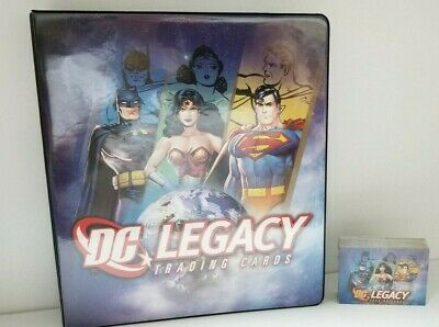 DC Legacy Trading Card Set and Collectible Binder Album with Signature PROMO