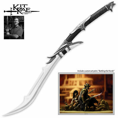 KIT RAE United Cutlery Full Size MITHRODIN SWORD LOTR Skyrim Fantasy Blade Axe