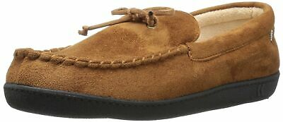 ISOTONER Men's Microsuede Moccasin Slipper with Cooling Memory Foam