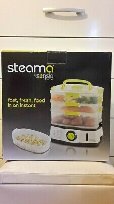 Sensio Home Steama ,3 Tier Electric Food Steamers for Cooking Veg.&Healthy Food