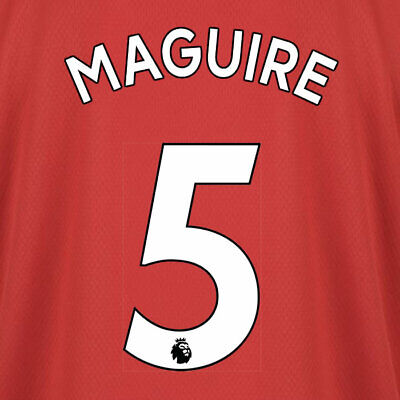 Maguire 5 19/20 Premier League Man Utd Home White Name & Number Set = Adults
