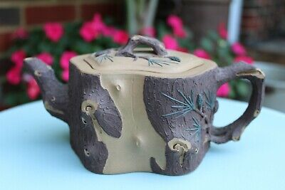 Antique Rare Chinese Yixing Zisha Teapot - Tree Trunk Design Collectible