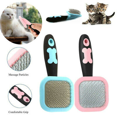 Handle Shedding Pet Dog Cat Hair Brush Puppy Pin Fur Grooming Trimmer Comb Tool