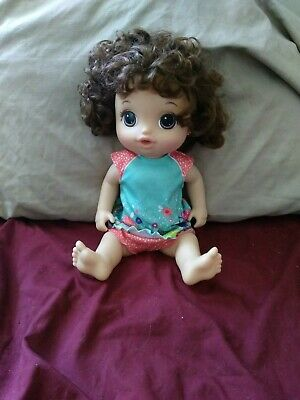 Baby Alive Potty Dance Baby - Brunette adult owned battery still works