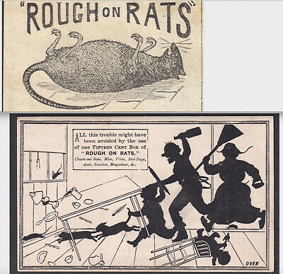 Skinny Men Sexual Health Renewer 1800s Rough on Rat Poison Quack Cure Trade Card
